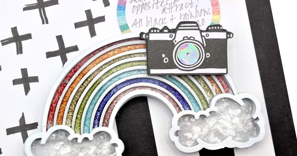 How to fill and embellish a chipboard rainbow shaker embellishment from Creative Embellishments.