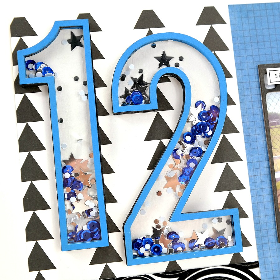 How to Create a Sports Jersey Number Shaker from Chipboard and Sequins