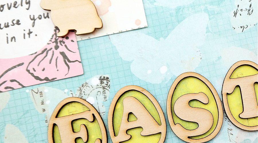How to Add Color to Wood Veneer Die-Cut Easter Eggs Using Tissue Paper